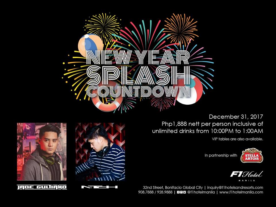 F1 Hotel Manila New Year Splash Countdown