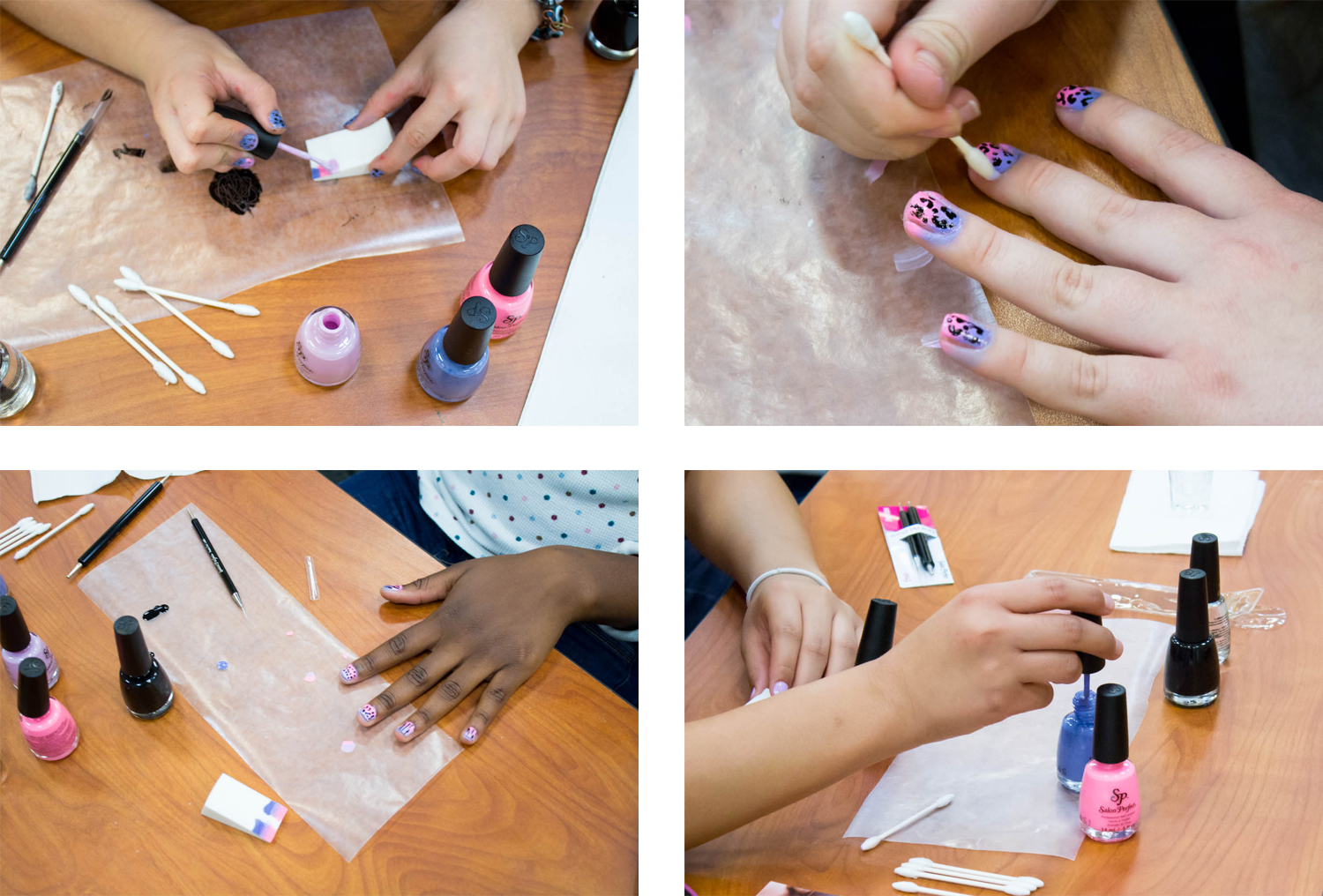 Beginner nail art workshop by @chalkboardnails