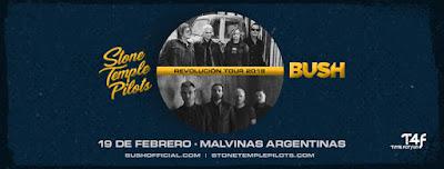 Stone Temple Pilots y Bush tocarán juntos en el Malvinas Argentinas.