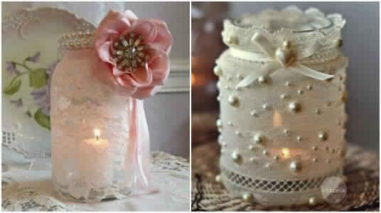 10 id es incroyables pour d corer les bocaux en verre for Frascos decorados para navidad