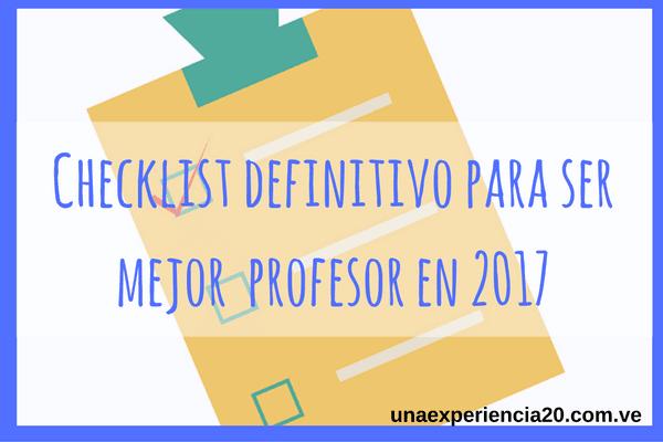 Checklist definittivo profesor 2.0