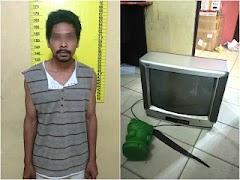 Pencuri TV di Tangkap Polsek Bagan Sinembah