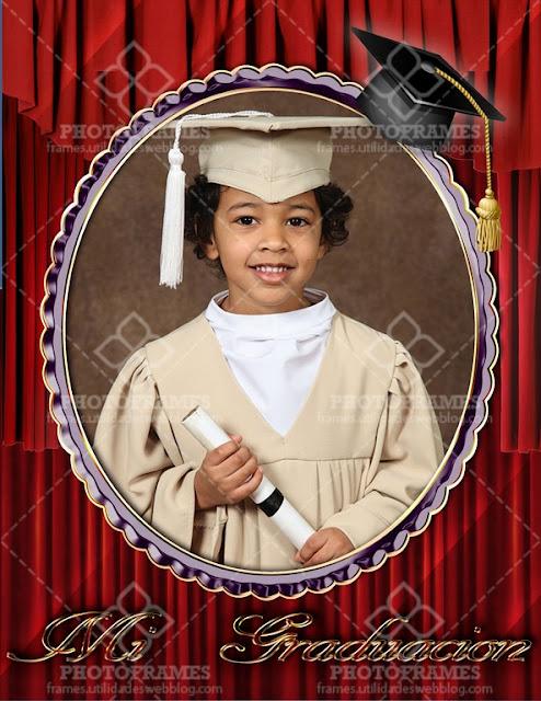 Marco digital para fotos de graduación