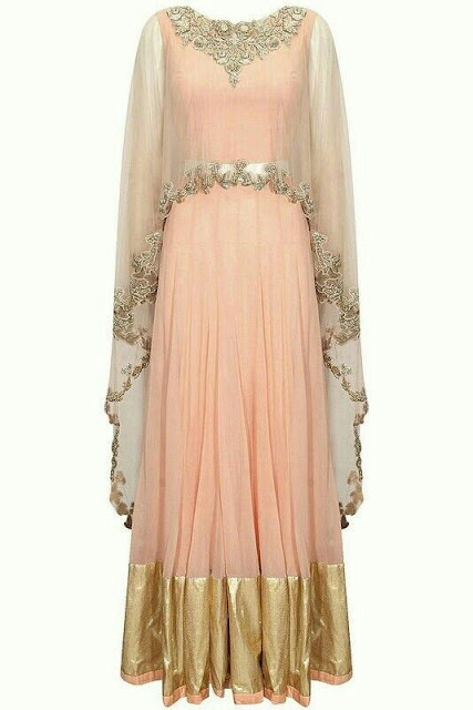 Top Anarkali Salwar Trend For Diwali cape neck