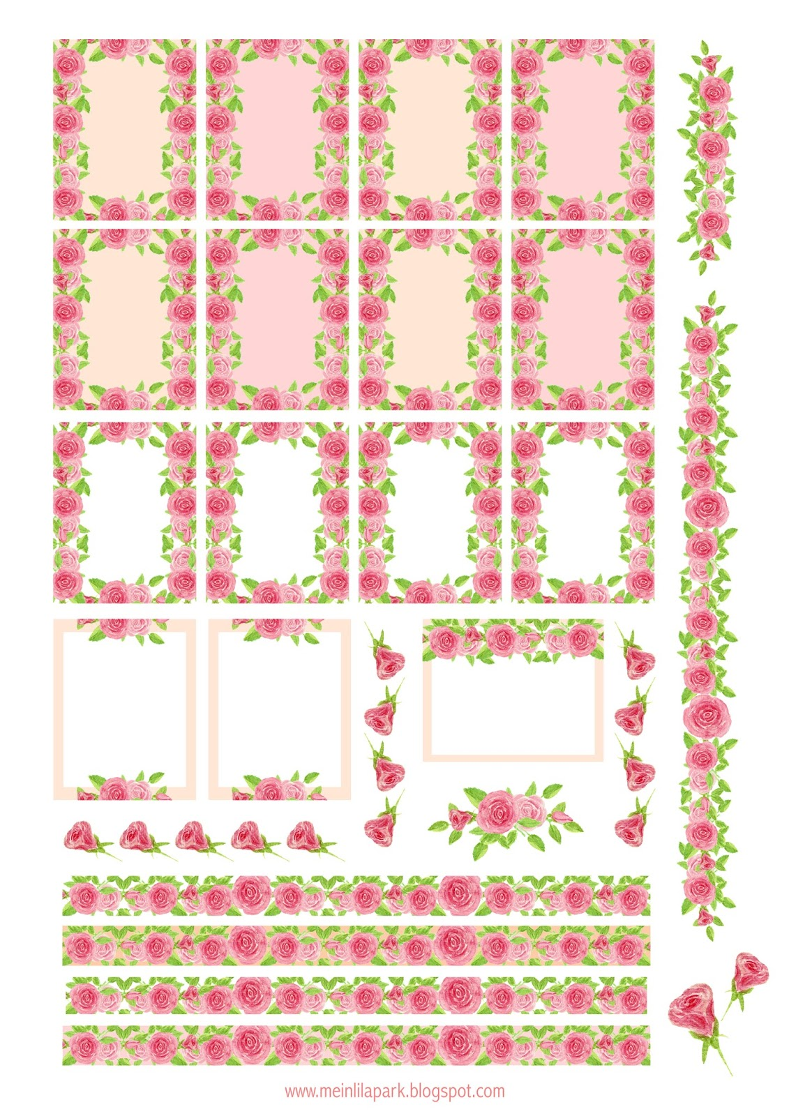 rose planner stickers