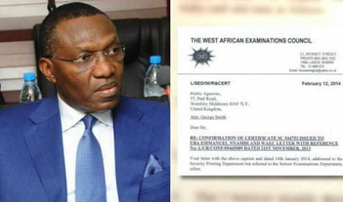 'WAEC Confirms Senator Andy Uba Forged Secondary School Certificate'
