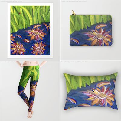 Flowers Float by Ladybug Stream - Melasdesign on Society6