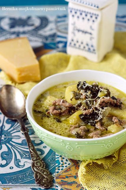 zupa, toskania, wlochy, mieso, obiad, bernika, kulinarny pamietnik