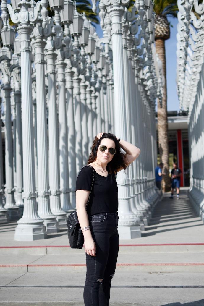 Topshop ripped Jaime Jeans LA outfit idea travel Vancouver blogger