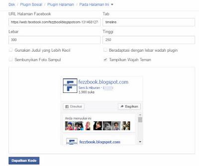 cara membuat memasang fanspage facebook