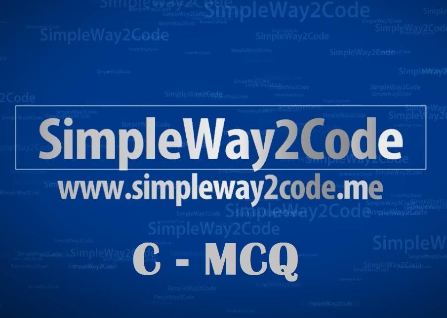 TCS - C Programming Concept MCQ - Set 3