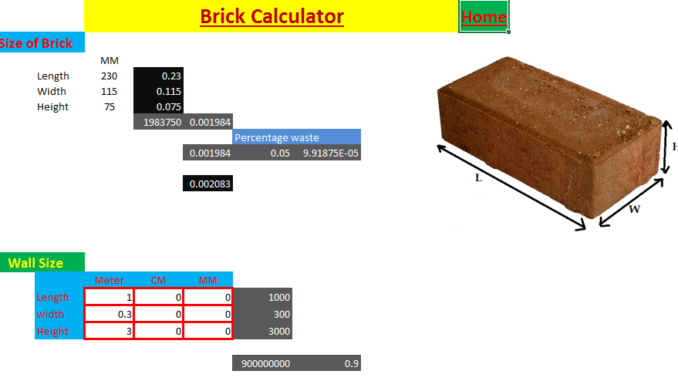 Concrete,Steel,Brick Calculator - FantasticEng