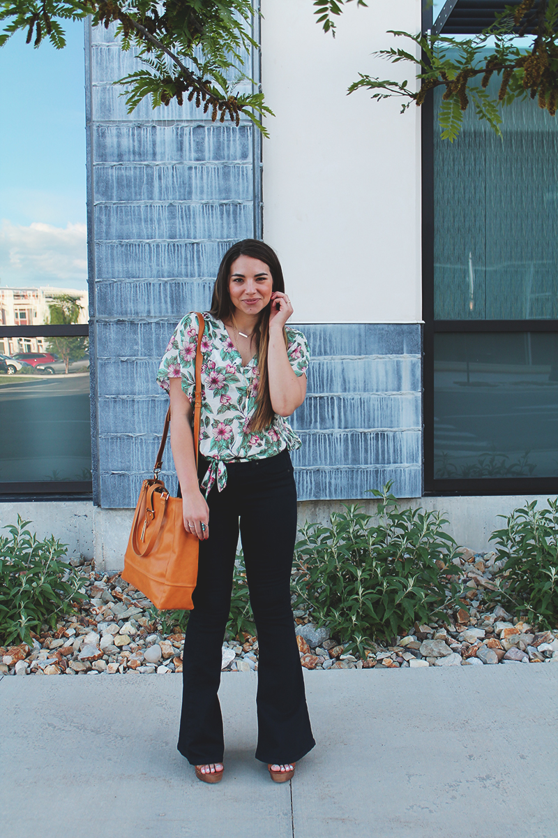floral top, summer outfit, hippie chic