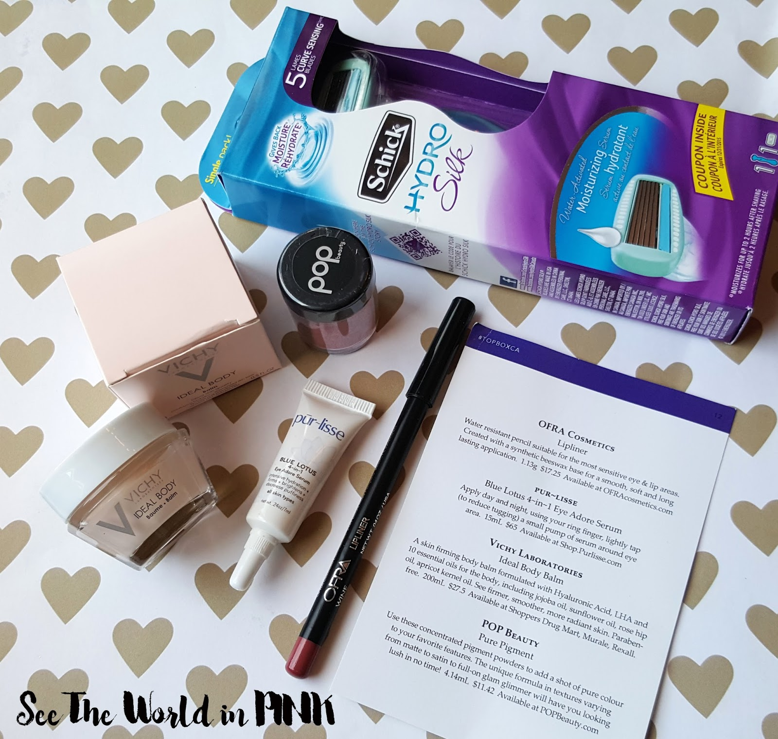 April 2016 Topbox - Unboxing and Review