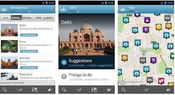Triposo travel app for India