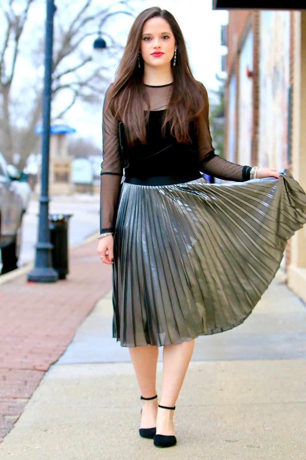 metallic skirt pics