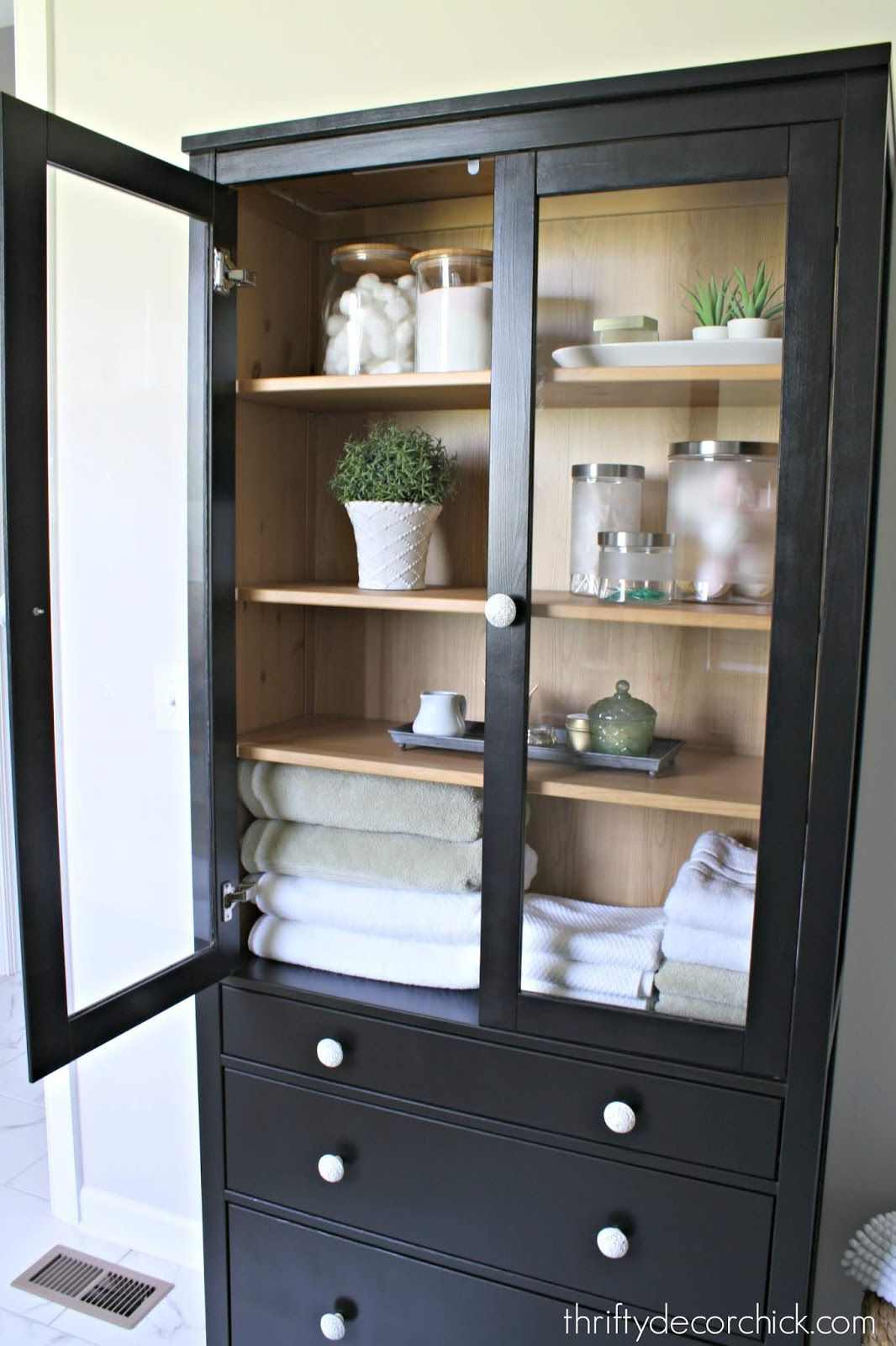 Two toned IKEA cabinet makeover