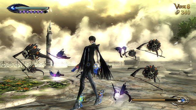 Action shooter game bayonetta