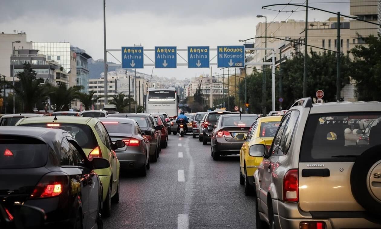 Κυκλοφοριακό χάος στην Αθήνα: «Παρέλυσε» η Συγγρού - Τεράστιο μποτιλιάρισμα σε Κηφισό
