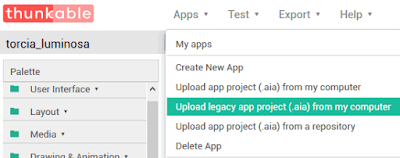 Upload legagy app project (.aia) from my computer