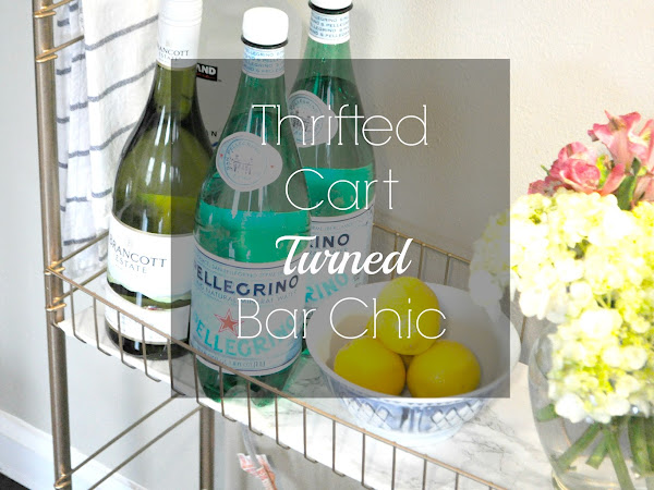 Thrifted Cart Turned Bar Chic