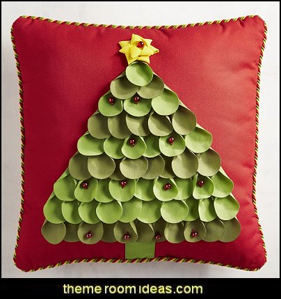 Petal Christmas Tree Pillow