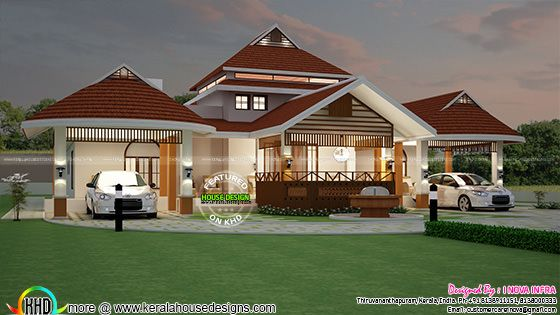 Big and beautiful Kerala home design