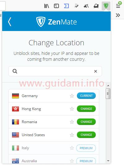 Estensione Firefox ZenMate VPN