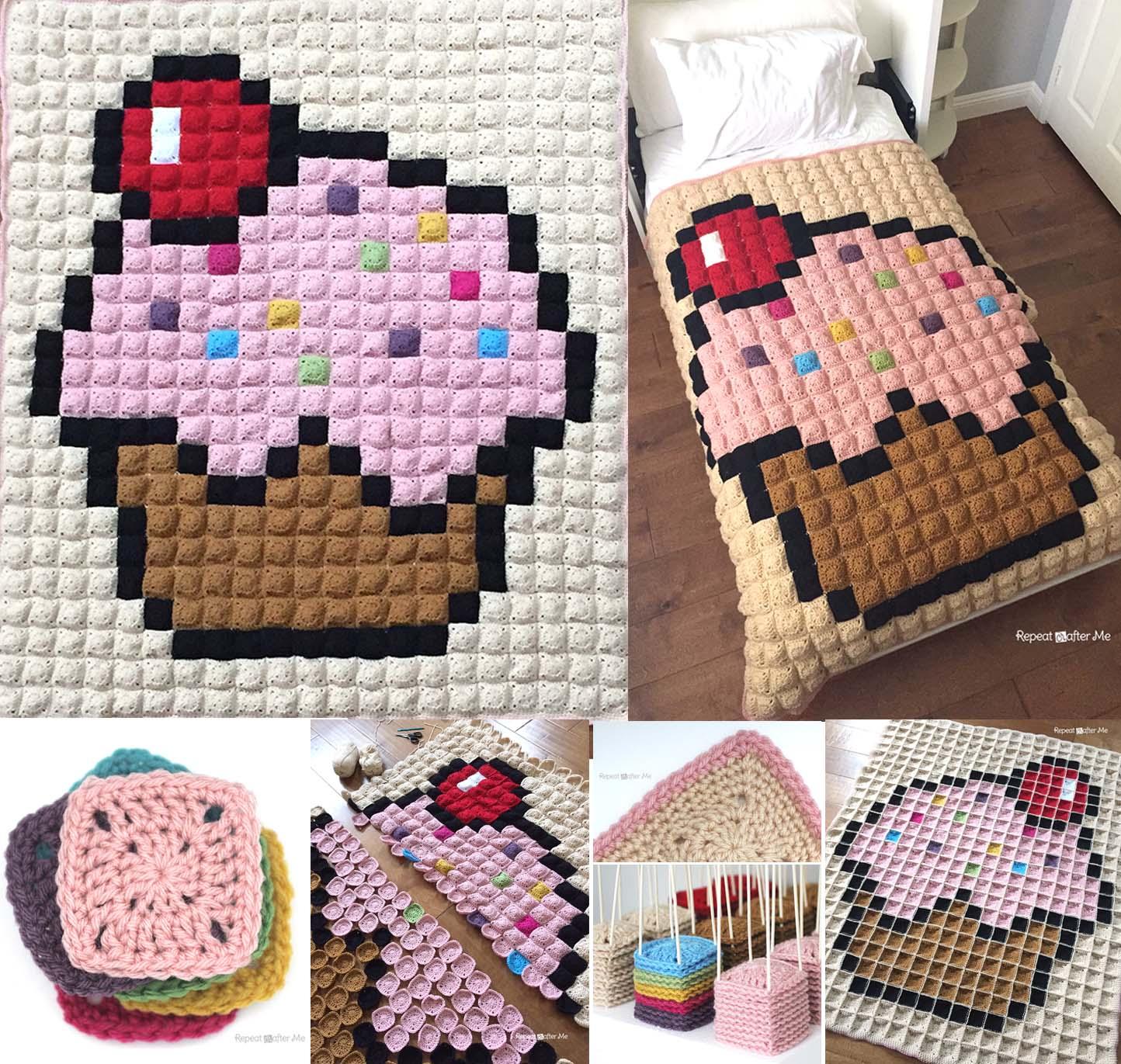 Crochet Corner To Corner C2c Baby Sheep Graphgan Repeat Crafter Me