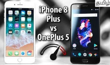 iPhone 8 Plus vs OnePlus 5 Speedtest Comparison (Tamil)