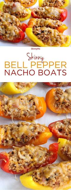 Skinny Bell Pepper Nacho Boats