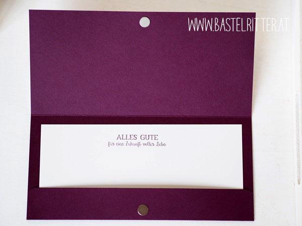Rosenzauber Hochzeit Karte Doppel gemoppelt Stampin' up! Bastelritter