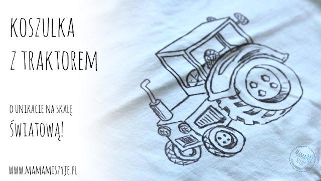 Koszulka z traktorem.