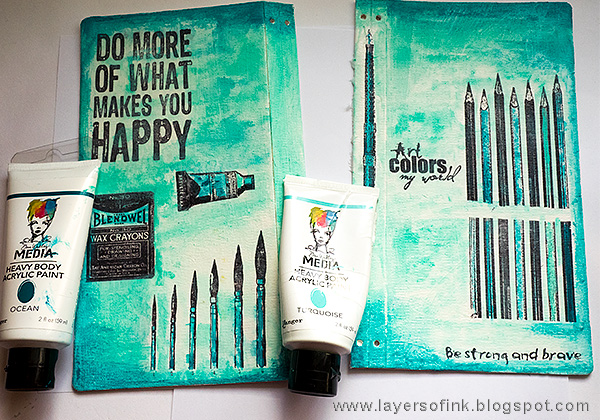 Layers of ink - Handmade Sketchbook Journal Tutorial by Anna-Karin with Eileen Hull Sizzix Journal die