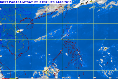 PAGASA Weather Satellite Image, 24 March 2013