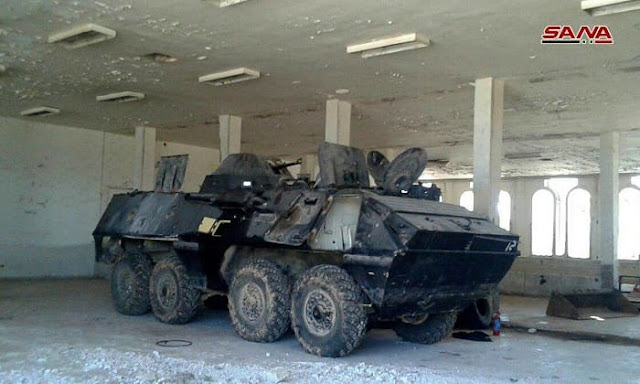 الجيش السوري يغتنم عربة مدرعة للناتو .؟