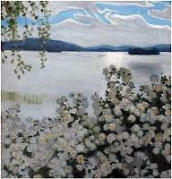 Gallen Kallela Roses blanches