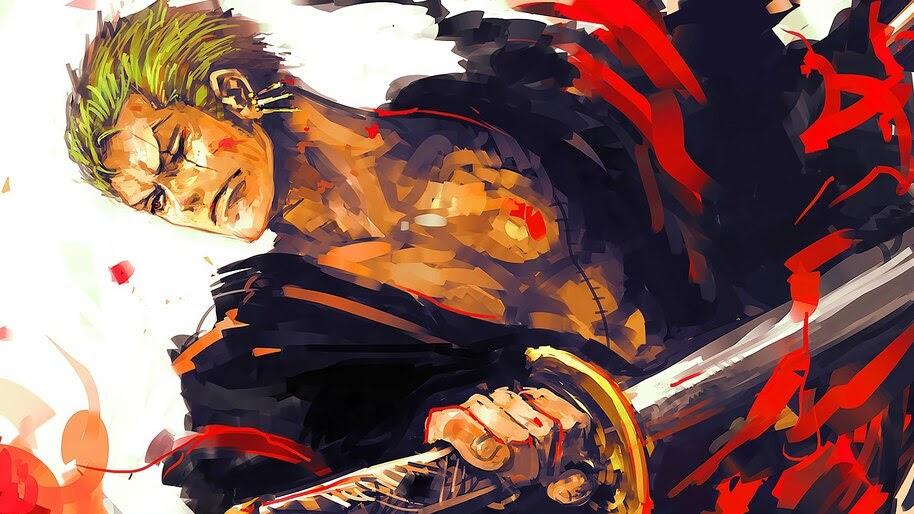 Zoro, Art, One Piece, 4K, #6.85