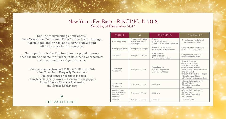 The Manila Hotel New Year's Eve Countdown Party
