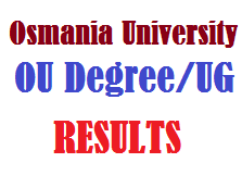 Osmania University OU Degree UG Results
