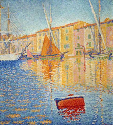 The Red Buoy, Saint Tropez, 1895  - Paul Signac