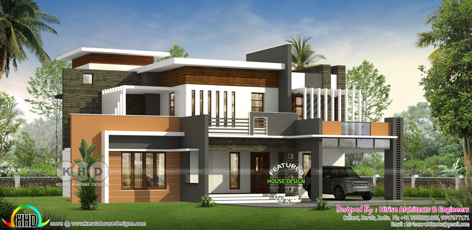 5 bhk contemporary style 3180 square feet home