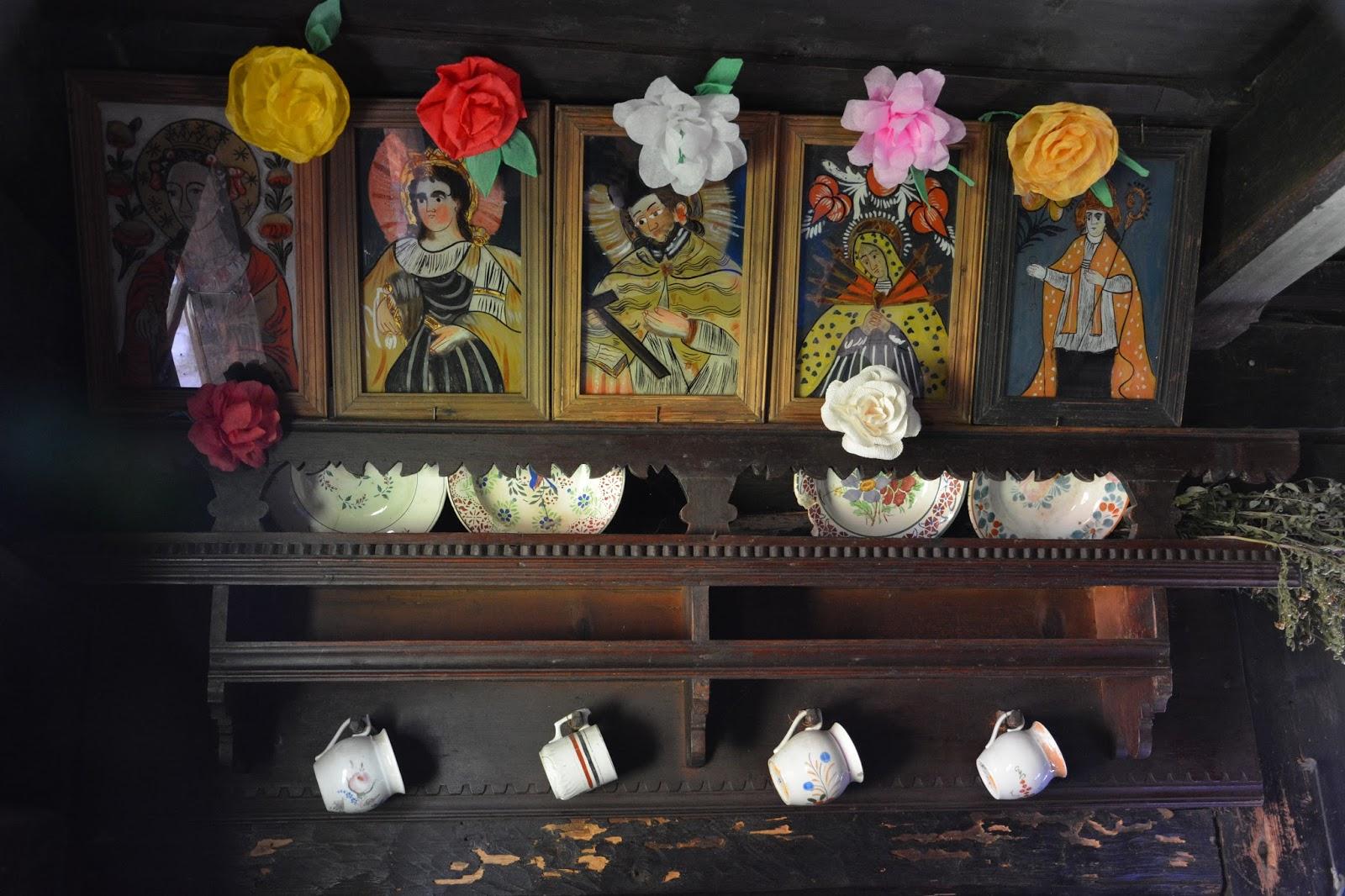 Orawski Park Etnograficzny, skansen w Zubrzycy Górnej, obrazy malowane na szkle