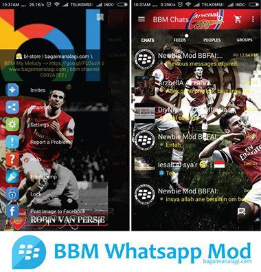 BBM Whatsapp Arsenal FC MOD Apk
