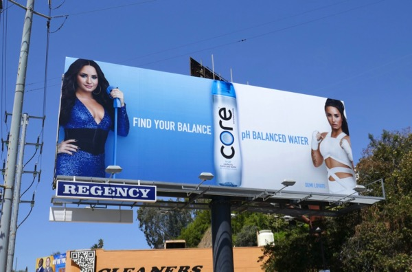 Demi Lovato Core water billboard