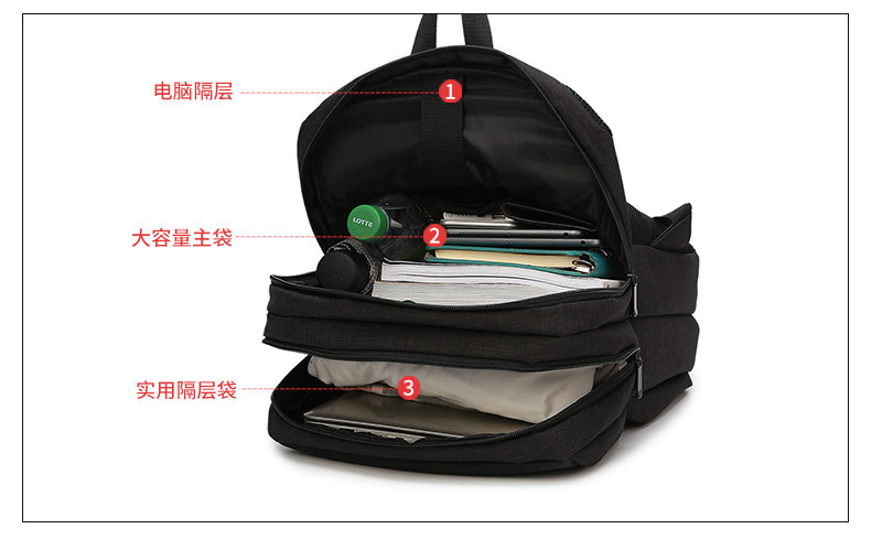 db9253edb73 Durable USB Charging Backpack Grade A Design Travel Laptop Bag 138