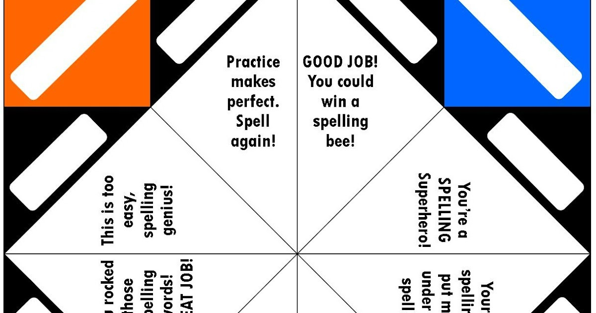 PAPER FORTUNE TELLER TEMPLATE WORD | Paper | 630x1200