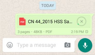 Uploading pdf document on whatsapp