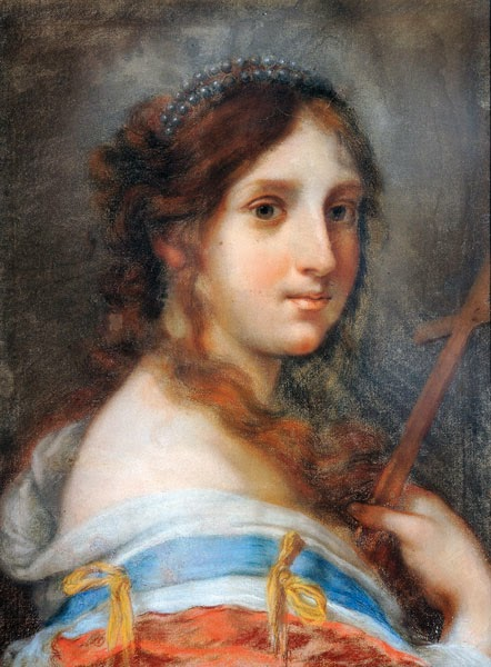 Femme avec un Crucifix, Giovanna Fratellini