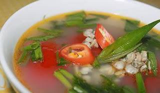 Món ăn ngon: Canh hến nấu hoa chuối